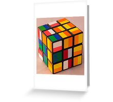 Cube puzzle Greeting Card