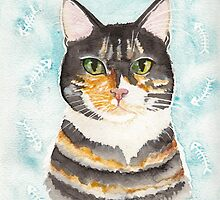 Portrait of a Calico Cat by Ryan Conners