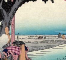 Fukuroi - Hiroshige Ando - 1833 - woodcut Sticker