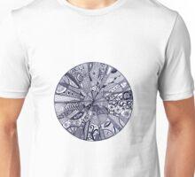 Doodle Mandala black and white Unisex T-Shirt