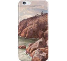 HJALMAR MUNSTERHJELM, COSTAL VIEW WITH ROCKS iPhone Case/Skin