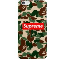 supreme army iPhone Case/Skin