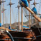 Gulets Lining The Harbour Infront of Marmaris Castle by taiche