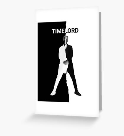 Abstract Black and White Timelord Art Greeting Card