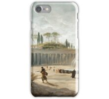 HUBERT ROBERT ; ROME, ST. PETER'S SQUARE, VIEW FROM BERNINI'S COLONNADE iPhone Case/Skin