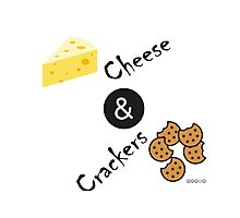 Cheese and Crackers Photographic Print