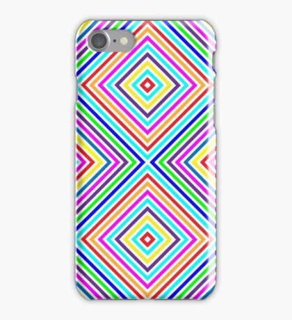 Varicolored squares, lines iPhone Case/Skin