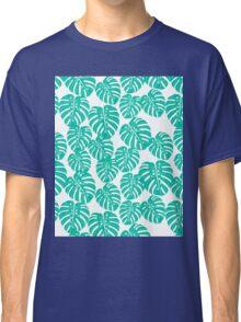 Monstera // tropical house plant mint white botanical andrea lauren  Classic T-Shirt