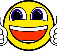 Awesome Thumbs Up Happy Smile Sticker Smiley Face by nfisher