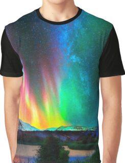 rainbow Aurora Borealis art2 Graphic T-Shirt