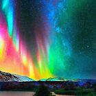 rainbow Aurora Borealis art2 by Adam Asar