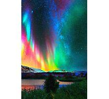 rainbow Aurora Borealis art2 Photographic Print