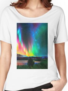 rainbow Aurora Borealis art2 Women's Relaxed Fit T-Shirt