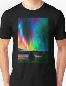 rainbow Aurora Borealis art2 T-Shirt