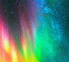 rainbow Aurora Borealis art2 Sticker