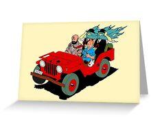 Tintin Black Gold Greeting Card