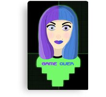 Gamer Girl - GAME OVER Canvas Print