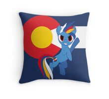 Blue Demon Horse of DIA Throw Pillow