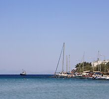 Boats at Datca by taiche