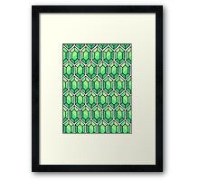 Legend Of Zelda Rupee Design [Green] Framed Print
