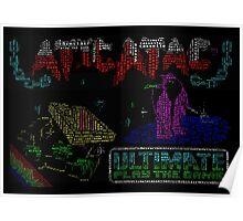 Atic Atac retro gaming word art Poster