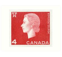 Canada 1963 Queen Cameo Series Postage Stamp - Electricity Art Print