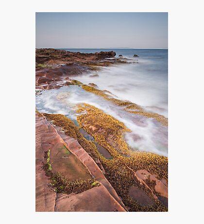 Arran rock shelves Photographic Print