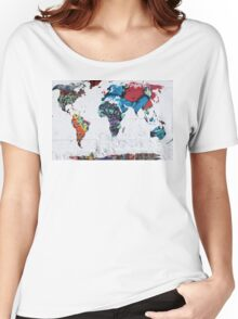 map of the world Women's Relaxed Fit T-Shirt