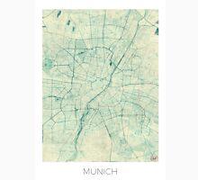 Munich Map Blue Vintage Unisex T-Shirt