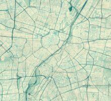 Munich Map Blue Vintage Sticker