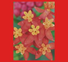 Succulent Red and Yellow Flower Echeveria One Piece - Long Sleeve