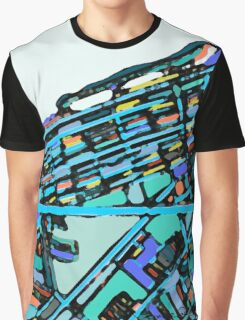 Abstract Map of Boston Back Bay Graphic T-Shirt