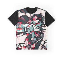 Abstract Map of Boston Harbor Graphic T-Shirt