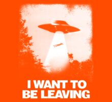 I WANT TO BE LEAVING Kids Tee