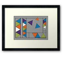Triangle Breakout - Abstract Art Framed Print