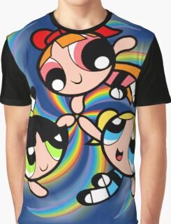 Power Puff Girls in Action Graphic T-Shirt