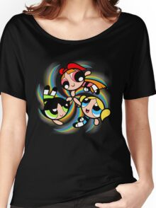 Power Puff Girls in Action Women's Relaxed Fit T-Shirt