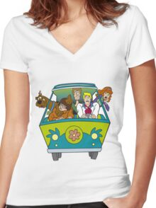 scooby doo Women's Fitted V-Neck T-Shirt