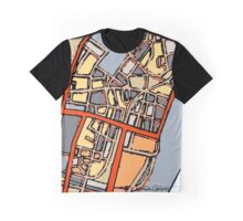 Abstract Map of Boston Chinatown Graphic T-Shirt