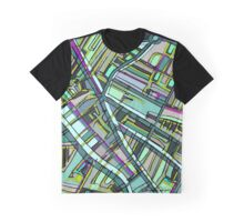 Abstract Map of Davis Square, Somerville Graphic T-Shirt