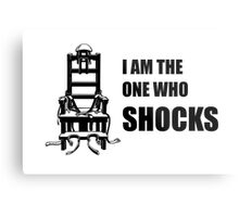 Electric Chair - I Am The One Who Shocks Metal Print