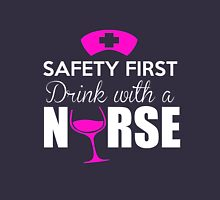 "Nurse Wine Glass ""Be safe, drink with a nurse""  Women's Fitted Scoop T-Shirt"