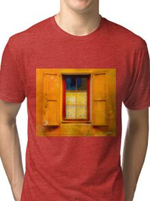 vintage window with shutters Tri-blend T-Shirt