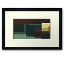 Hopper: Nighthawks (computer-generated abstract version) Framed Print