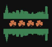 Irish Chicago Flag Skyline One Piece - Long Sleeve