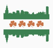Irish Chicago Flag Skyline Kids Tee
