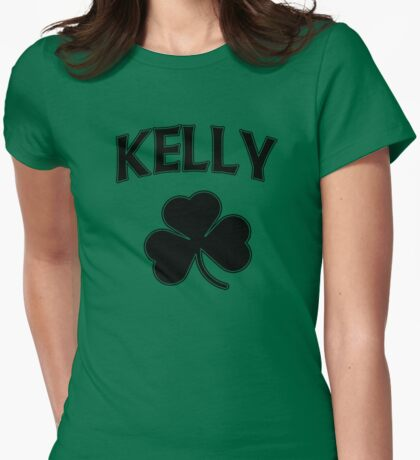 Irish Kelly Heritage Shamrock Womens Fitted T-Shirt