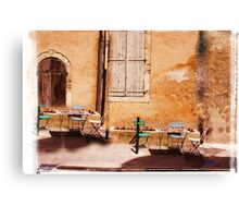 eating area in rural France Canvas Print