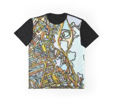 Abstract Map of Dorchester Graphic T-Shirt