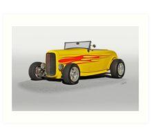 1932 Ford Roadster w Flames Art Print